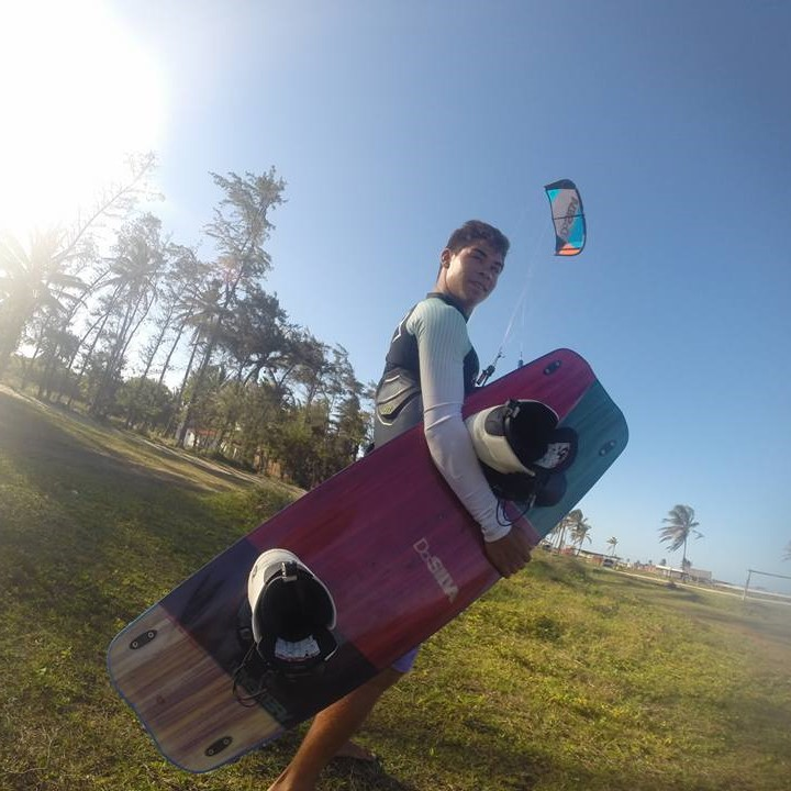 Edvando Da Silva Training at Cauipe Lagoon, Brazil.